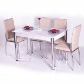 Gökkuşağı Mutfak Masası Yemek Takımı Masa Takımı Sandalye 10 Renk-7