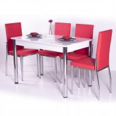 Mutfak Sabit Masa Sandalye Takımı Yemek Masası -2
