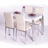 Mutfak Sabit Masa Sandalye Takımı Yemek Masası -9