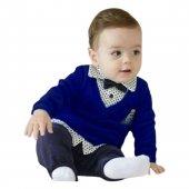 Lüx Armalı Papyonlu Pantolonlu 2 Li Erkek Bebek Takımı