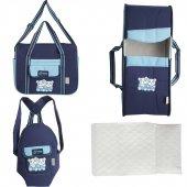 Nenny Baby Açık Mavi Lacivert 4 Lü Taşıma Seti...