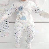 Chery Açık Mavi 7 li Erkek Bebek Hastane Çıkış Seti-3