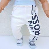 Laci BOSSS Kendinden Çoraplı Erkek Bebek Tek Alt