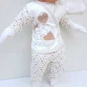Chery Kalpli Kahve 5 Parça Erkek Bebek Hastane Çıkış Seti-2