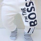 Laci BOSSS Kendinden Çoraplı Erkek Bebek Tek Alt-2
