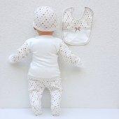 Chery Kalpli Kahve 5 Parça Erkek Bebek Hastane Çıkış Seti-4