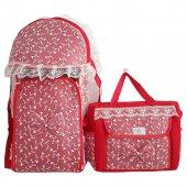 Dantelli Kırmızı Lüks 2 Li Kız Bebek Taşıma...