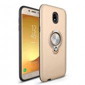 Samsung Galaxy J7 Pro J730 Ring Youyou Yüzüklü Kılıf + Cam-3