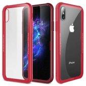 Apple iPhone X Kılıf Craft Arkası Cam Kapak + Ekran Koruyucu Cam-2