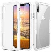 Apple iPhone X Kılıf Craft Arkası Cam Kapak + Ekran Koruyucu Cam-3