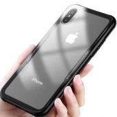 Apple iPhone X Kılıf Craft Arkası Cam Kapak + Ekran Koruyucu Cam-4