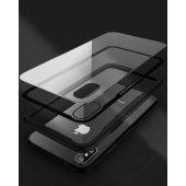 Apple iPhone X Kılıf Craft Arkası Cam Kapak + Ekran Koruyucu Cam-6