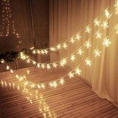 Dekoratif Yıldızlı İp Led Star Yıldız Led 2...