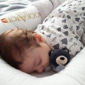 %100 Pamuklu Oyuncaklı Müslin Uyku Arkadaşı Lavanta-3