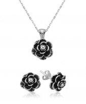 çiçek Bayan Pirmoda Gümüş Set