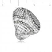 Oval Bayan Pirmoda Gümüş Yüzük
