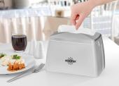R 1331 Beyaz Modern Maxi Masaüstü Peçete Dispenseri