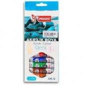 Mikro Akrilik Boya 12 Renk (9 Ml)