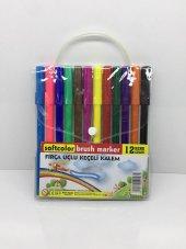 Softcolor Fırça Uçlu Keçeli Kalem 12 Renk