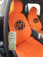 Fiat Turuncu Ön Koltuk Penye Servis Kılıfı Bambu Koku Hediye