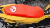 Bmw Logolu Kırmızı Penye Kumaş Motorsiklet Koltuk Kılıfı