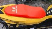 Honda Logolu Kırmızı Penye Kumaş Motorsiklet Koltuk Kılıfı