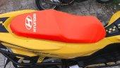 Hyundaı Logolu Kırmızı Penye Kumaş Motorsiklet Koltuk Kılıfı