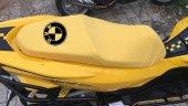 Bmw Logolu Krem Penye Kumaş Motorsiklet Koltuk Kılıfı