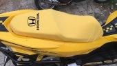 Honda Logolu Krem Penye Kumaş Motorsiklet Koltuk Kılıfı