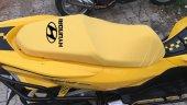 Hyundaı Logolu Krem Penye Kumaş Motorsiklet Koltuk Kılıfı
