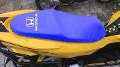 Honda Logolu Mavi Penye Kumaş Motorsiklet Koltuk Kılıfı