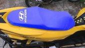 Hyundaı Logolu Mavi Penye Kumaş Motorsiklet Koltuk Kılıfı