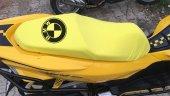 Bmw Logolu Sarı Penye Kumaş Motorsiklet Koltuk Kılıfı
