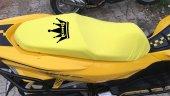 Kıng Logolu Sarı Penye Kumaş Motorsiklet Koltuk Kılıfı