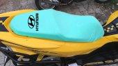 Hyundaı Logolu Turkuaz Penye Kumaş Motorsiklet Koltuk Kılıfı