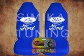 Ford Mavi Penye Ön Koltuk Kılıf Sibop Kapağı Hediye