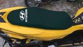 Hyundaı Logolu Siyah Penye Kumaş Motorsiklet Koltuk Kılıfı