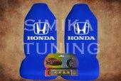 Honda Mavi Penye Ön Koltuk Kılıf Sibop Kapağı Hediye