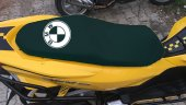 Bmw Logolu Siyah Penye Kumaş Motorsiklet Koltuk Kılıfı