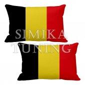Belçika Logolu 2 Li Boyun Yastığı Arkası Lastikli