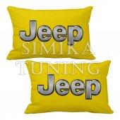 Jeep Logolu 2 Li Boyun Yastığı 5 Renk Çeşidi Arkası Lastikli