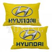 Hyundaı Logolu 2 Li Boyun Yastığı 5 Renk Çeşidi Arkası Lastikli