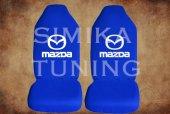 Mazda Sax Mavi Penye Kılıf Ön Arka Koltuk 2 Adet Emoji Yastık