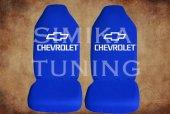 Chevrolet Sax Mavi Penye Kılıf Ön Arka Koltuk 2 Adet Emoji Yastı