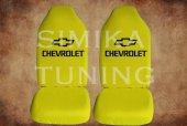 Chevrolet Sarı Penye Kılıf Ön Arka Koltuk 2 Adet Emoji Yastık