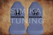 Honda Gri Penye Kılıf Ön Arka Koltuk 2 Adet Emoji Yastık