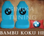 Bmw Turkuaz Ön Ve Arka Kılıf + Yastık Bambu Koku Hediye