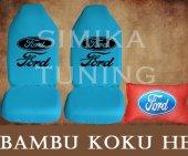 Ford Turkuaz Ön Ve Arka Kılıf + Yastık Bambu Koku Hediye