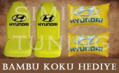 Hyundaı Sarı Ön Ve Arka Kılıf + Yastık Bambu Koku Hediye