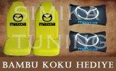 Mazda Sarı Ön Ve Arka Kılıf + Yastık Bambu Koku Hediye
